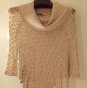 Wow Couture Tan Cowl Neck Poncho